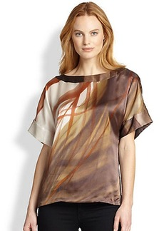 Lafayette 148 New York Silk Larkin Harvest Top