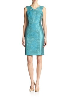 Lafayette 148 New York Silk-Panel Camille Dress
