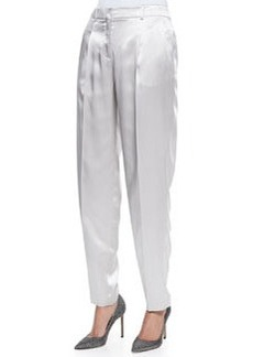 Lafayette 148 New York Silk Pebble Fashion Pleated Pants