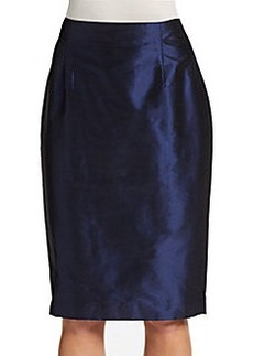 Lafayette 148 New York Silk Pencil Skirt