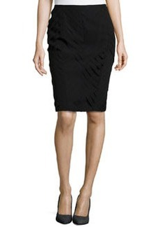 Lafayette 148 New York Silk Pencil Skirt, Black