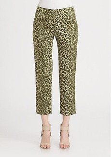 Lafayette 148 New York Silk Printed Cropped Bleeker Pants