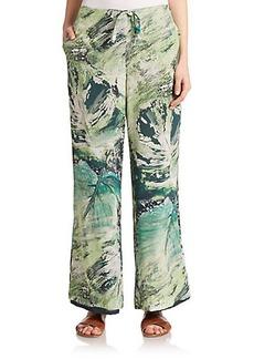 Lafayette 148 New York Silk Printed Pants