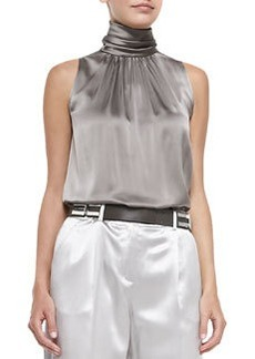 Lafayette 148 New York Silk Sleeveless Blouse