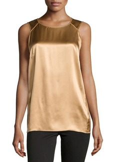 Lafayette 148 New York Silk Sleeveless Scoop-Neck Blouse