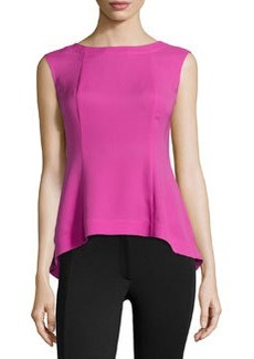 Lafayette 148 New York Silk Sleeveless Top, Sakura Pink