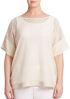 Lafayette 148 New York, Sizes 14-24 Areo Mesh Top