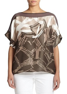 Lafayette 148 New York, Sizes 14-24 Ari Printed Blouse