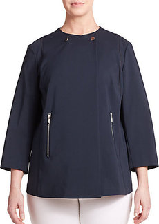 Lafayette 148 New York, Sizes 14-24 Bi-Stretch Asymmetrical Jacket