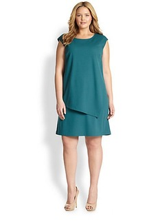 Lafayette 148 New York, Sizes 14-24 Cap-Sleeve Layered Sheath
