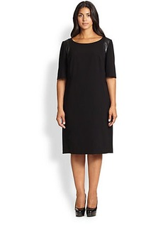 Lafayette 148 New York, Sizes 14-24 Claudine Tech Cloth Dress