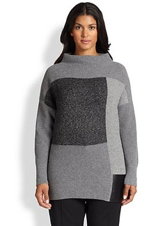 Lafayette 148 New York, Sizes 14-24 Colorblock Tech-Contrast Sweater