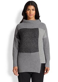 Lafayette 148 New York, Sizes 14-24 Colorblock Tech-Contrast Sweater