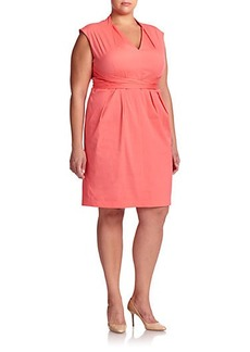 Lafayette 148 New York, Sizes 14-24 Corrine Wrap-Tie Dress