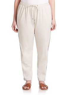 Lafayette 148 New York, Plus Size Cotton Jersey Drawstring Pants