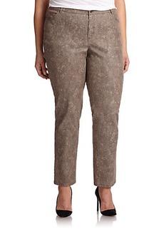 Lafayette 148 New York, Plus Size Curvy Slim-Leg Jeans