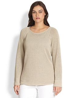 Lafayette 148 New York, Sizes 14-24 Dropped-Hem Sweater