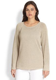 Lafayette 148 New York, Sizes 14-24 Dropped-Hem Sweater