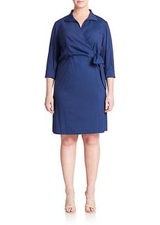 Lafayette 148 New York, Sizes 14-24 Edeline Faux-Wrap Dress