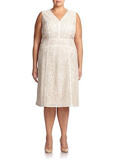 Lafayette 148 New York, Sizes 14-24 Essie Lace Sheath Dress