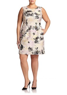 Lafayette 148 New York, Sizes 14-24 Evelyn Printed Sheath Dress