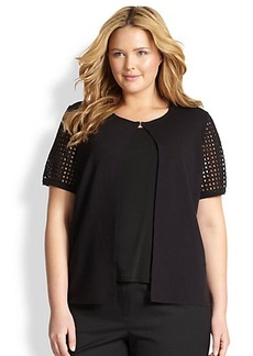 Lafayette 148 New York, Sizes 14-24 Eyelet-Detail Cardigan
