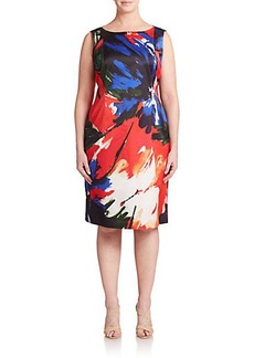 Lafayette 148 New York, Sizes 14-24 Faith Floral-Print Dress
