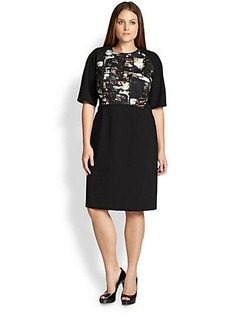 Lafayette 148 New York, Sizes 14-24 Faryn Cityscape-Print Dress