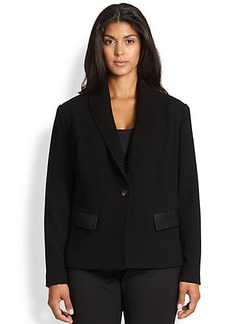 Lafayette 148 New York, Sizes 14-24 Flori Knit Contrast Jacket