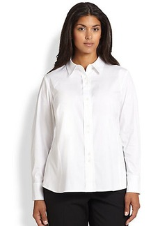 Lafayette 148 New York, Sizes 14-24 Francine Stretch Cotton Blouse