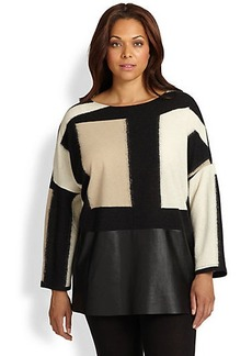 Lafayette 148 New York, Sizes 14-24 Geometric Oversized Tunic