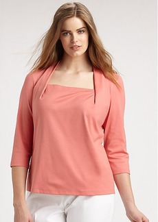 Lafayette 148 New York, Sizes 14-24 Giada Three-Quarter-Sleeve Top