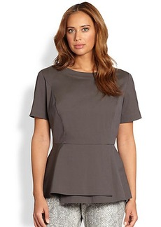 Lafayette 148 New York, Sizes 14-24 Jade Peplum Top