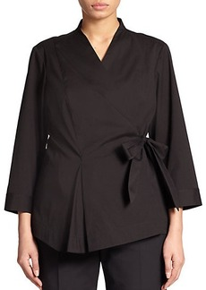 Lafayette 148 New York, Sizes 14-24 Jillian Wrap Blouse