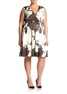 Lafayette 148 New York, Sizes 14-24 Junette Floral Dress
