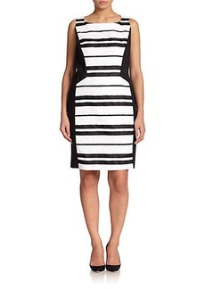 Lafayette 148 New York, Sizes 14-24 Kimberly Striped Dress