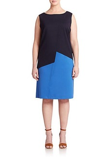 Lafayette 148 New York, Sizes 14-24 Knit Colorblock Dress