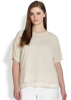 Lafayette 148 New York, Sizes 14-24 Layered Sweater