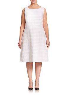 Lafayette 148 New York, Sizes 14-24 Linen Fit-&-Flare Dress