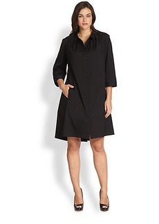 Lafayette 148 New York, Sizes 14-24 Lynley A-Line Shirtdress