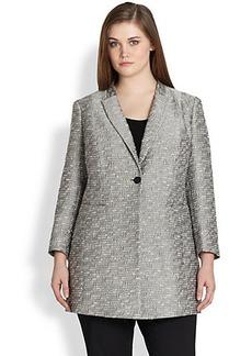 Lafayette 148 New York, Sizes 14-24 Marlee Metallic Jacquard Jacket