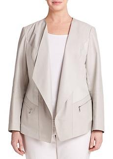 Lafayette 148 New York, Sizes 14-24 Mixed-Media Draped Jacket