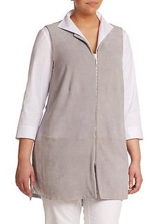 Lafayette 148 New York, Sizes 14-24 Mixed-Media Long Vest