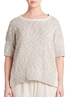 Lafayette 148 New York, Sizes 14-24 Mixed-Media Top