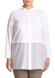 Lafayette 148 New York, Sizes 14-24 Neptune Blouse