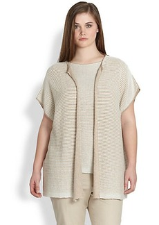 Lafayette 148 New York, Sizes 14-24 Oversized Open Vest