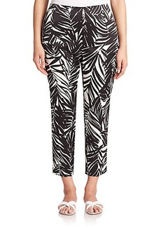 Lafayette 148 New York, Plus Size Printed Cropped Stanton Pants