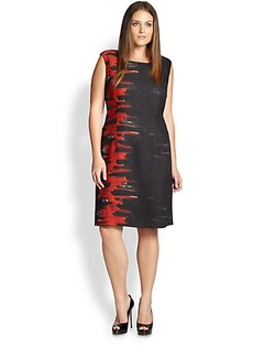 Lafayette 148 New York, Sizes 14-24 Savannah Flame Dress