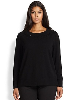 Lafayette 148 New York, Sizes 14-24 Sequin Cashmere Sweater
