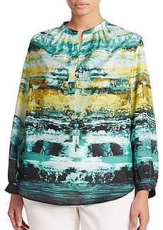 Lafayette 148 New York, Sizes 14-24 Sharla Silk Printed Blouse